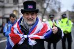 Сторонники Brexit на торжественных мероприятиях, посвященных выходу Великобритании из ЕС