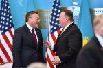 Государственный секретарь США Майк Помпео и министр иностранных дел Казахстана Мухтар Тлеуберди