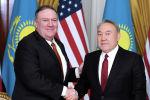 Государственный секретарь США Майк Помпео и Елбасы Нурсултан Назарбаев