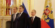 Посол Казахстана в России Кошербаев вручил верительную грамоту президенту Путину