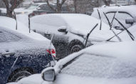 Снегопад в феврале