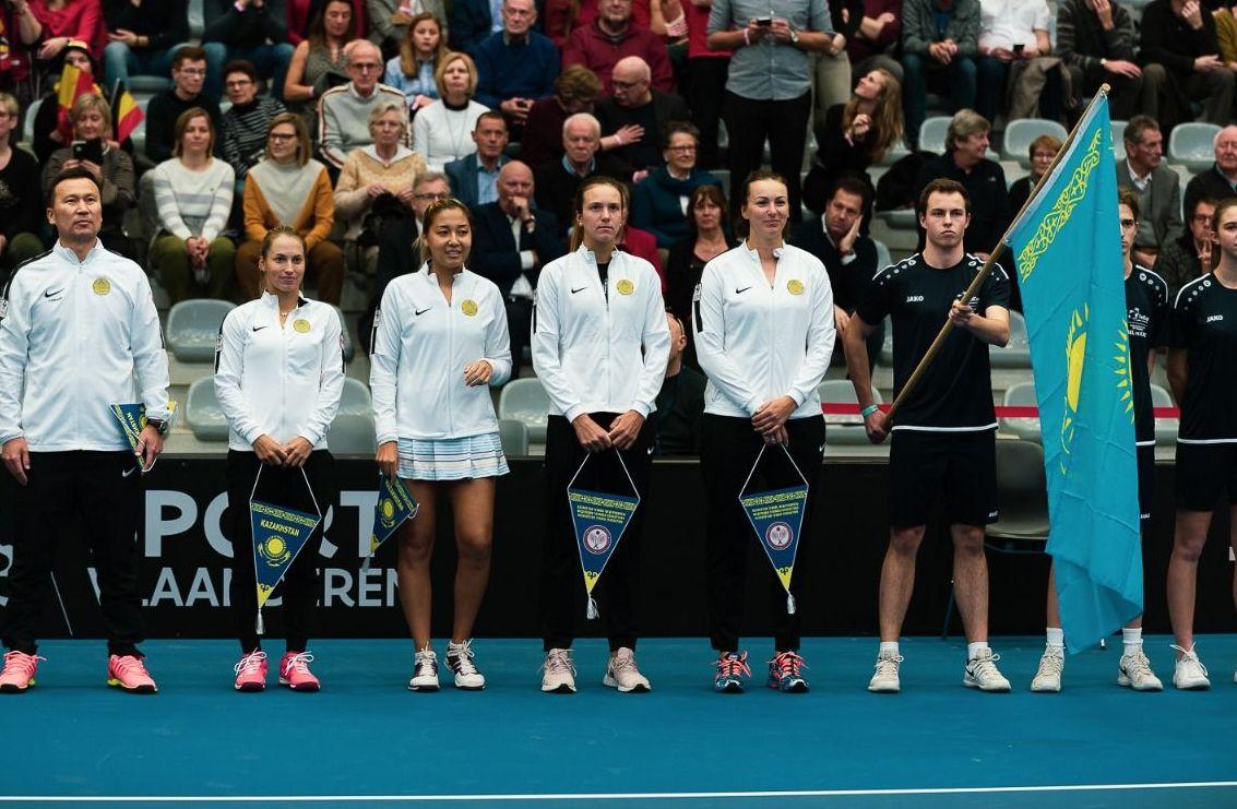Сборная Казахстана по теннису (слева направо): Юлия Путинцева, Зарина Дияс, Анна Данилина, Ярослава Шведова
