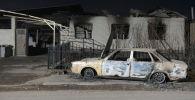 Сгоревший автомобиль в селе Масанчи