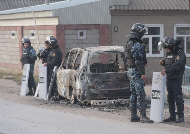 Село Масанчи 9 февраля после массовых беспорядков