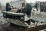 В микрорайоне Дархан водитель не справился с управлением и на полном ходу вылетел в Большой алматинский канал