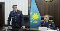 Министр внутренних дел Ерлан Тургумбаев представил нового главу полиции Жамбылской области