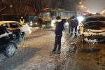 Четыре машины и автобус столкнулись на ул. Саина