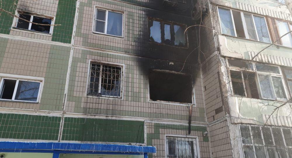 Пожар в жилом доме по улице Куйши Дина