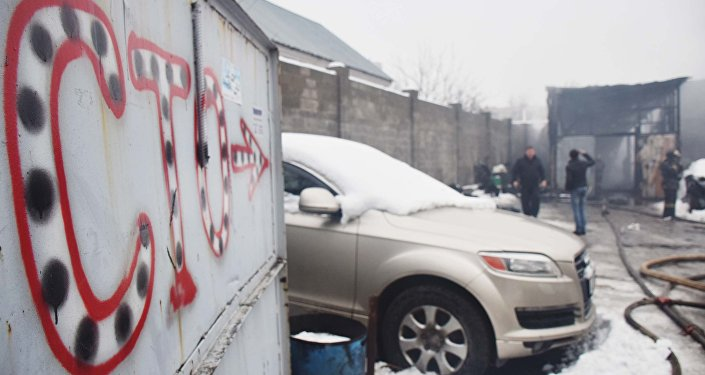 СТО сгорела в Алматы