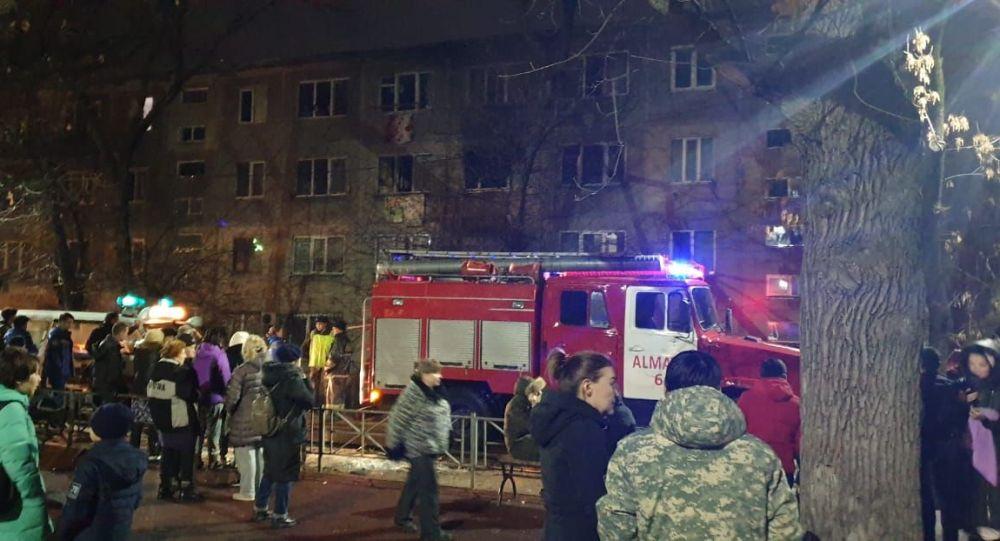Пожар в квартире в мкр.№3