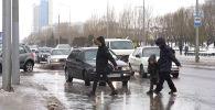Ледяной дождь пролился на Нур-Султан - видео