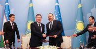 Аскар Мамин принял участие в форуме межрегионального сотрудничества Казахстана и Узбекистана в Ургенче