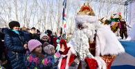 Дед мороз на Масленице в Нур-Султане