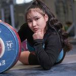 Гульнур Ыбрай. Тяжелоатлеты девушки. Юношеская сборная