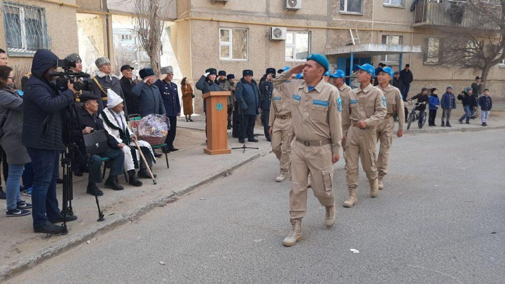 Персональный парад для ветерана Великой Отечественной войны Кайыра Кыдырбаева