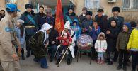 Ветеран Великой Отечественной войны Кайыр Кыдырбаев принял персональный военный парад, приуроченный к 75-летию Победы