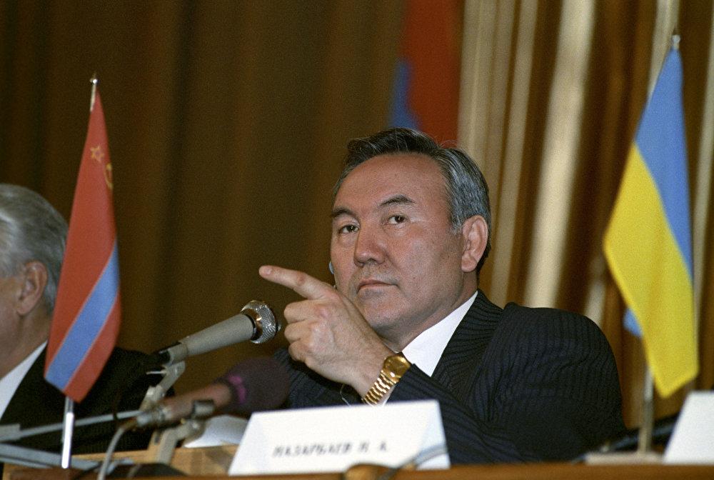 Президент Казахстана Н.Назарбаев на встрече глав 11 независимых государств, бывших республик СССР