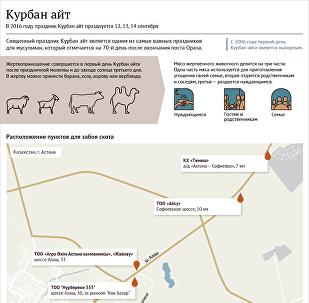 Места в Астане для забоя скота в Курбан айт
