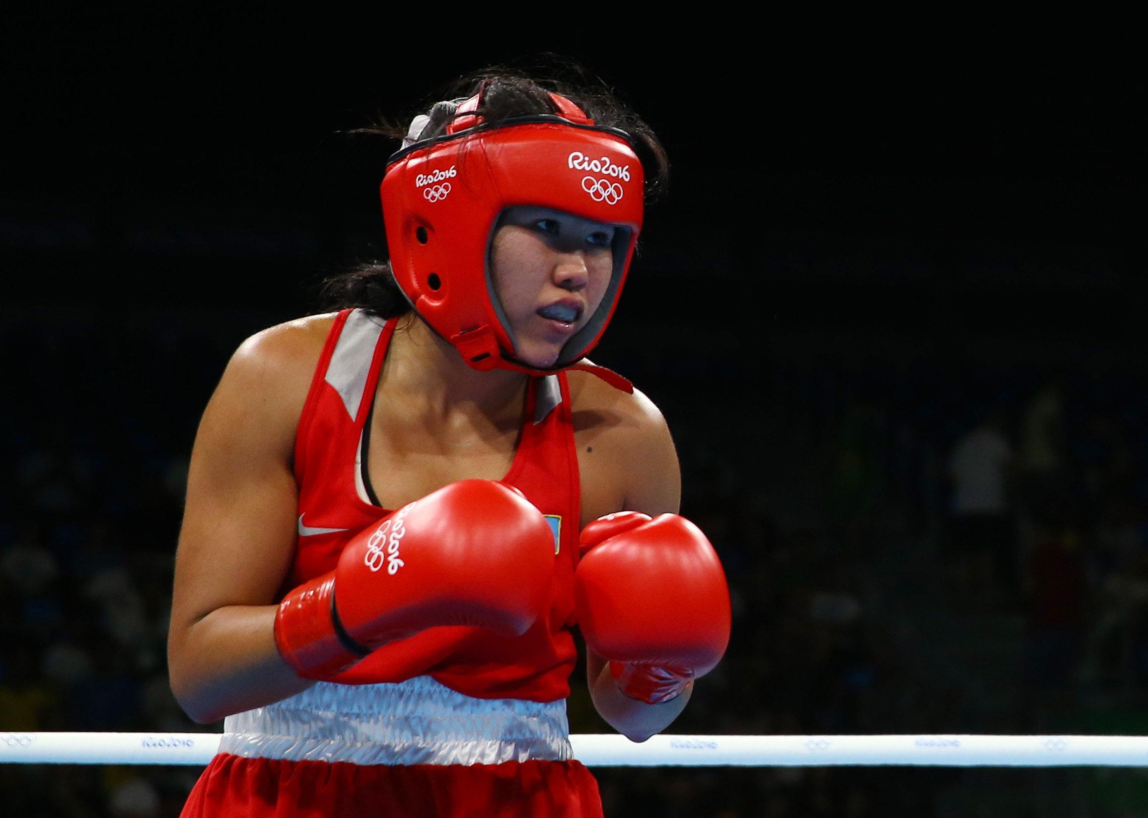 Казахстанская боксерша Дарига Шакимова