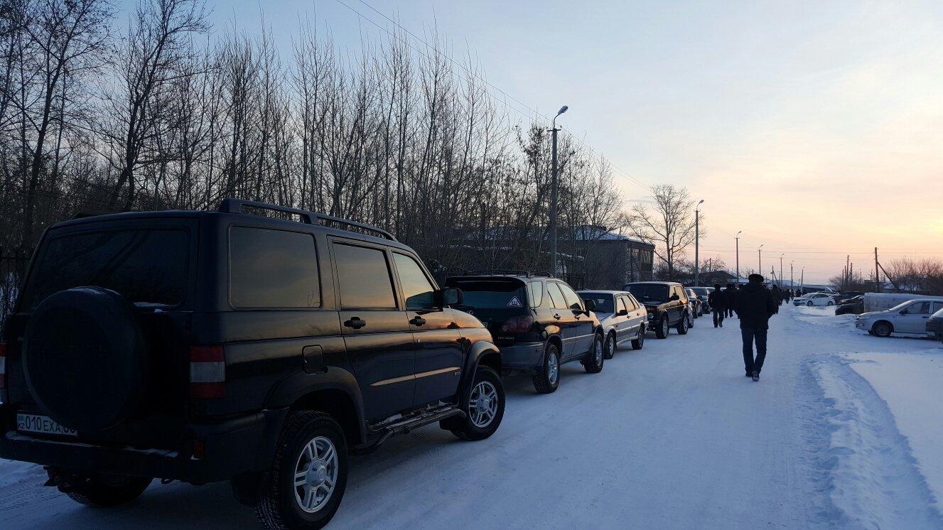 Похороны убитого полицейского Дархана Еламанова в Акмолинской области