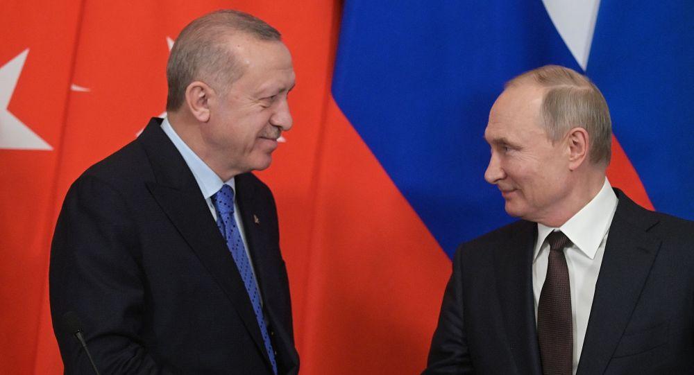 Ресей президенті Владимир Путин мен Түркия президенті Режеп Ердоған