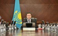 Премьер-министр Казахстана Аскар Мамин на заседании правительства