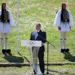 Церемония зажжения олимпийского огня 2020, Олимпия, Греция