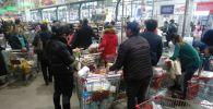 Фото очередей в гипермаркете Алматы