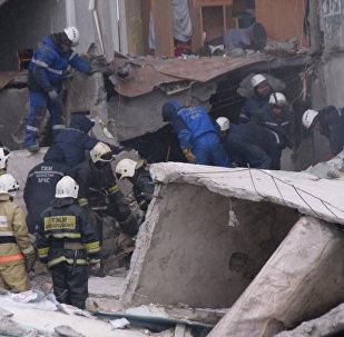 Обрушение жилого дома в поселке Шахан