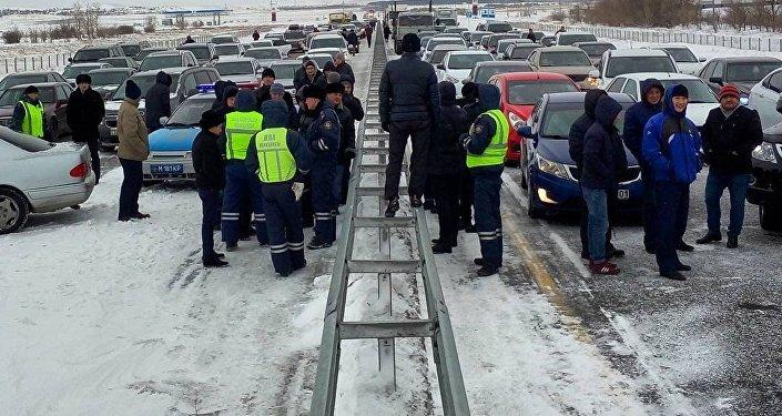 Коллапс на трассе Астана-Караганда