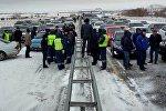 Астана-Қарағанды жолындағы көлік ағыны