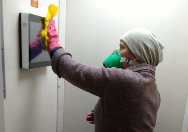 Санитарная обработка в подъездах домов в Алматы