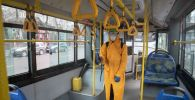Дезинфекция автобуса