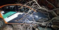 Автомобиль каршеринга снес забор частного жилого дома