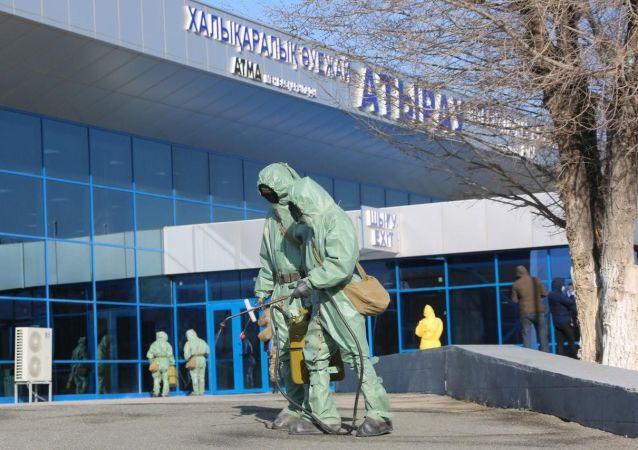 Дезинфекция улиц в Атырау