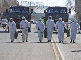 Дезинфекция улиц в Нур-Султане