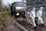 Алматы көшелерін дезинфекциялау жұмыстары
