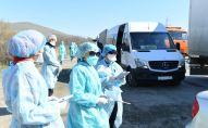 На блокпостах Туркестанской области проверят самочувствие водителей и пассажиров