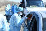 Медики на блокпостах Туркестанской области регистрируют всех прибывающих в регион