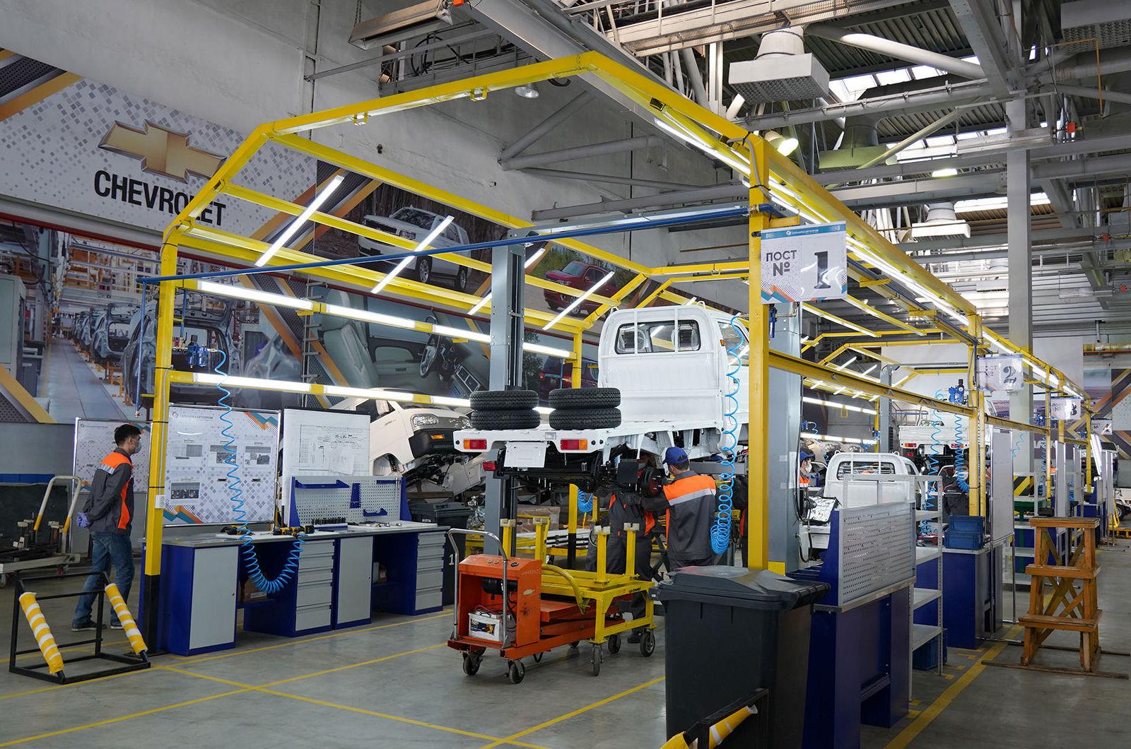 Завод СарыаркаАвтоПром в Костанае, где совместно с UzAuto Motors началась сборка Chevrolet