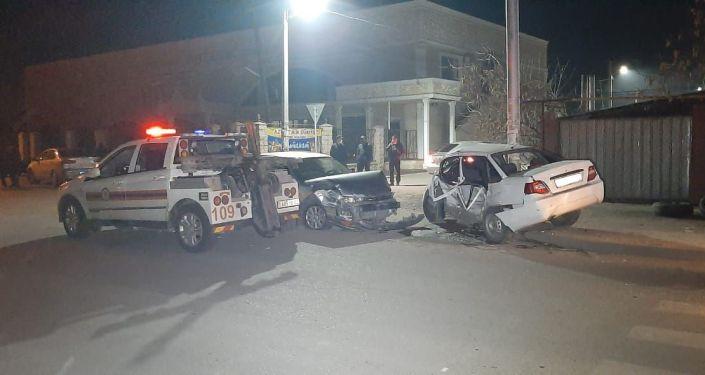 Грубое нарушение правил дорожного движения стало причиной крупной аварии в центре города