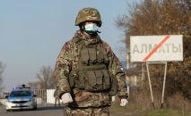 Казахская полиция установила блокпост на въезде в город Алматы