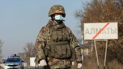 Алматыдағы блокпост