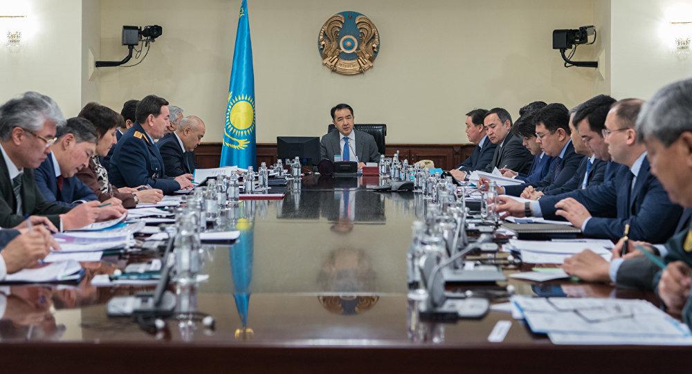Заседание правительства Казахстана