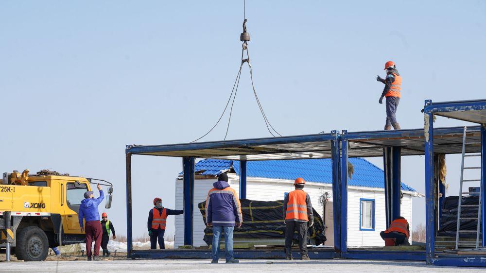 Строительство инфекционных госпиталей для лечения зараженных коронавирусом близ Нур-Султана