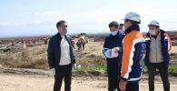 Аким Алматы Бакытжан Сагинтаев дал старт строительству инфекционного госпиталя