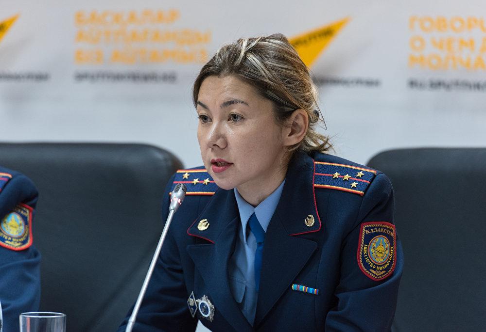 Начальник управления внешней миграции Департамента миграционной полиции Жанар Кожахметова