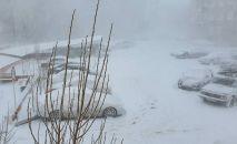 В Костанае в апреле выпал снег
