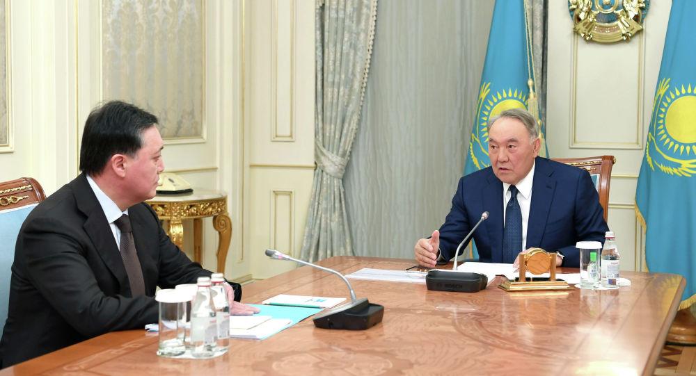 Назарбаев үкімет басшысы Асқар Маминмен кездесті