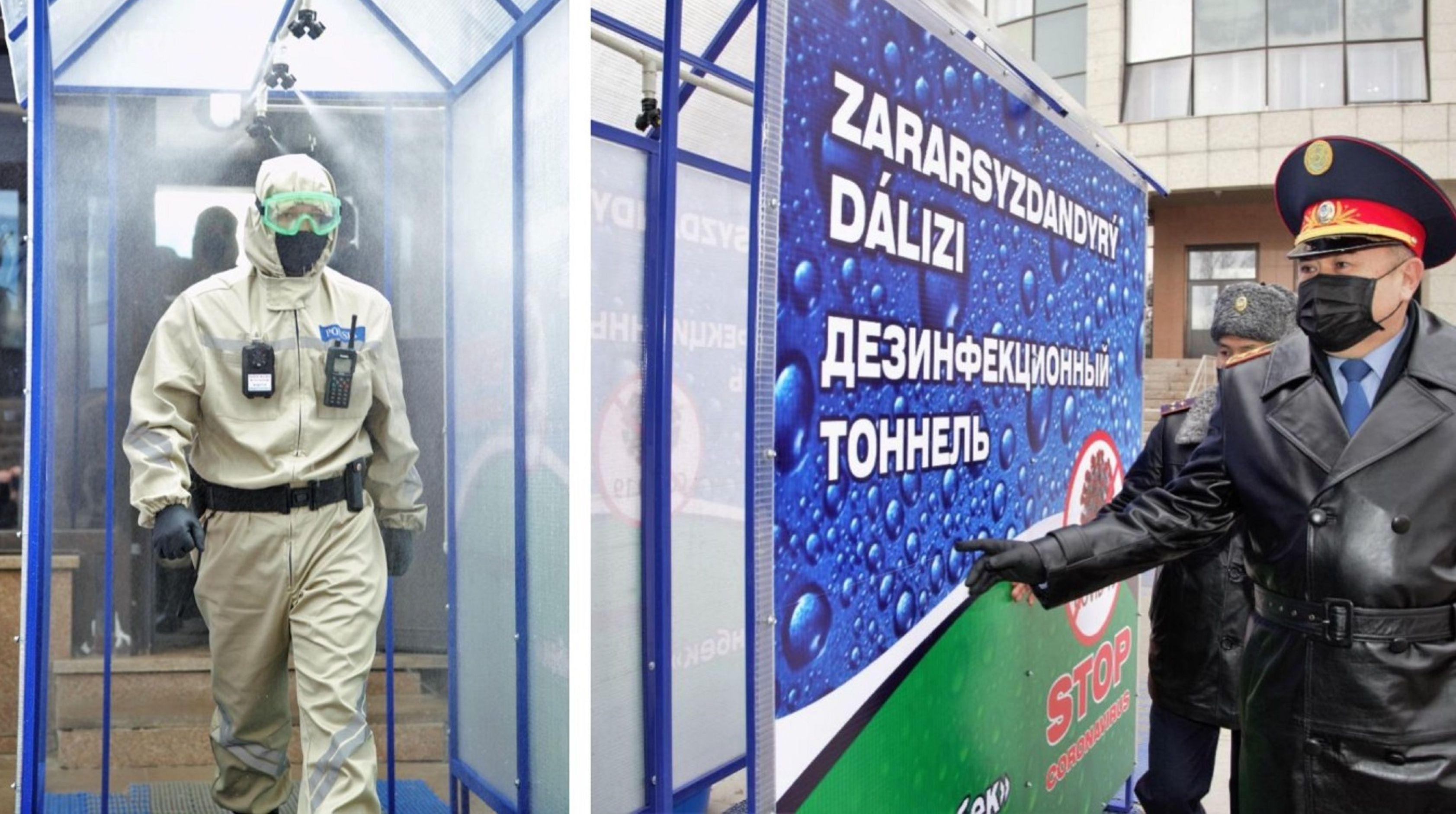 В МВД презентовали средства защиты от коронавирусной инфекции